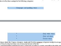Word文档中突出显示的文本。